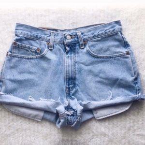 Levi's Shorts - VTG High Waisted Levi Shorts - Light Wash (XXS-M)